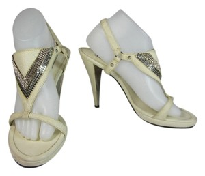 Versace Swarovski Crystals Leather Sandals