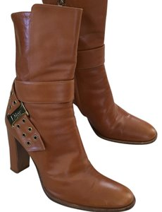Dior Designer Ankle Christian Italy Camel, tan , brown Boots