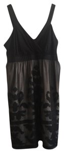 INC International Concepts short dress Black/Taupe Embroidered Plus-size Machine Washable on Tradesy