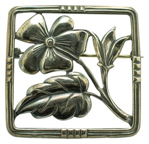Danecraft Danecraft Dogwood Flower .925 Sterling Silver Square Pin Brooch