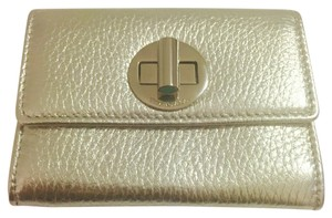Tiffany & Co. Turnlock leather card holder