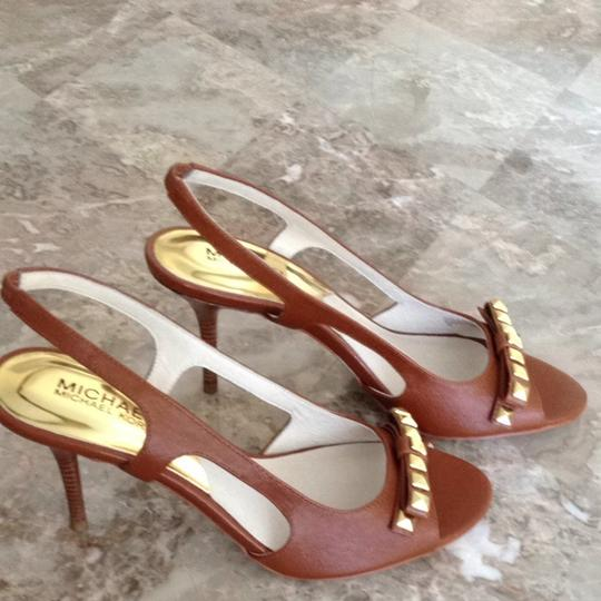 MICHAEL Michael Kors Luggage Brown Sandals