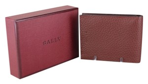 Bally Bally Metrill Leather Grained Chestnut Wallet