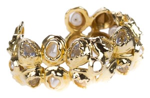 Chanel Chanel Vintage Crystal and Pearl Abstract Cuff