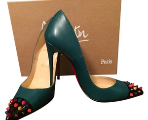 Christian Louboutin teal Pumps