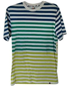 Amplified Bold Stripe Cotton T Shirt striped
