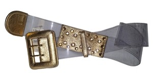 Be&D NWT Be&D Vinyl & Gold Leather Wide Belt sz. S
