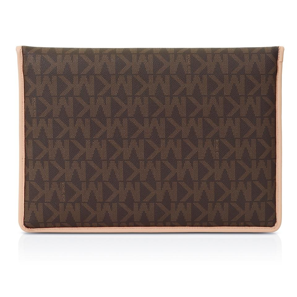 a05915a442684 Michael Kors Brown Slim Sleeve Macbook Air Laptop Case (13 Inch ...