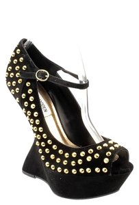 Steve Madden Studded Hollywood Black Platforms