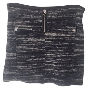 Isabel Marant Mini Skirt Black grey white