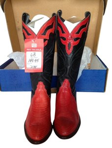Tony Lama Red/black Boots
