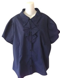 Antilia Femme Button Down Shirt Indigo