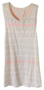 Lululemon Top Heathered cream with pink stripes