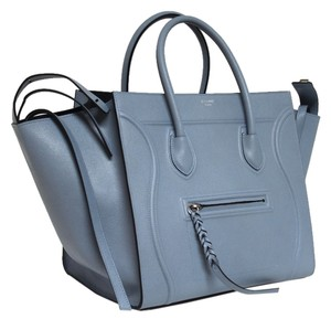 Céline Runway 2016 Grained Leather Tote in Baby blue