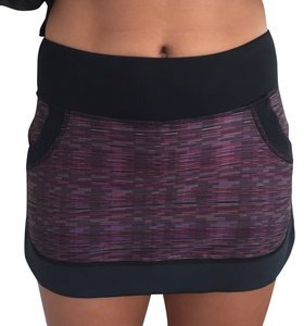 Lululemon Mini Skirt Black, multi colored purple, pink, grey