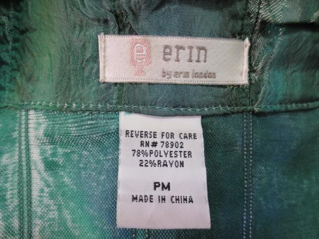 Erin London Vintage Polyester Green and Blue Jacket