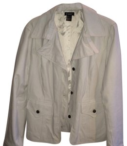 CAME FROM SPIEGEL FASHION CATALOGUE Eggshell Leather Jacket