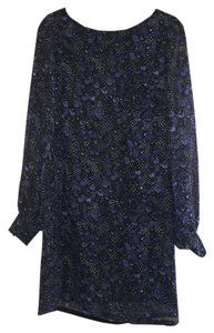 Donna Morgan short dress Blue Shift on Tradesy