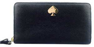 Kate Spade Kate Spade Black Leather Continental Zip Wallet New With Tags