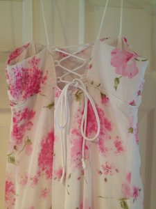 Morgan & Co White And Pink Dress