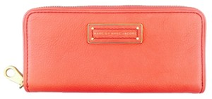 Marc by Marc Jacobs Marc By Marc Jacobs Orange Leather Slim Comtinental Wallet New With Tags