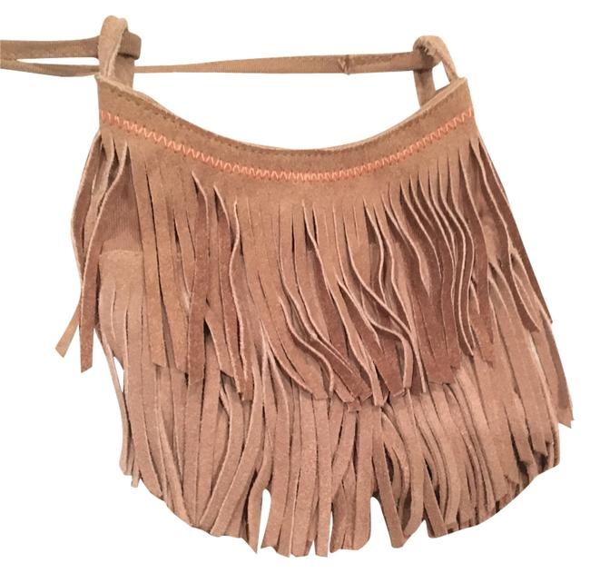 Item - Fringe Tan Genuine Suede and Cotton Cross Body Bag