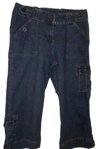 Monroe & Main Capri/Cropped Denim-Dark Rinse