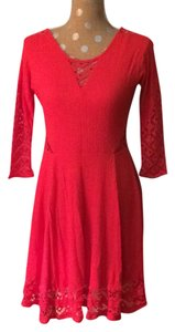 Free People short dress Strawberry To The Point on Tradesy