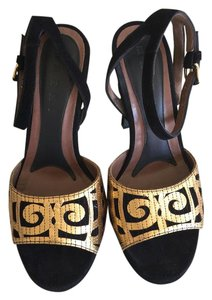 Marni Gold and Black Sandals