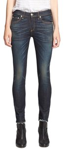 Rag & Bone New Capri/Cropped Denim-Dark Rinse