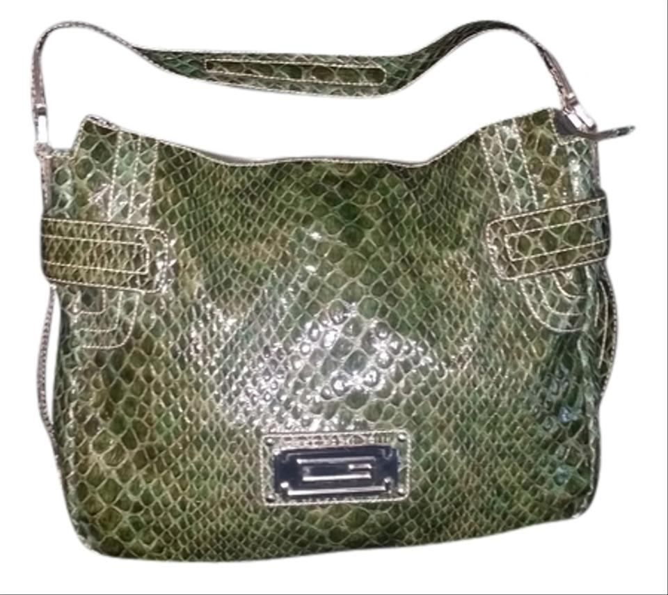 323f17516e Guess Marciano Large Green Faux Leather Tote - Tradesy