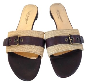 Dolce&Gabbana Tan and Brown Sandals