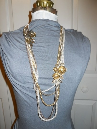 unknown Faux pearl multi chain