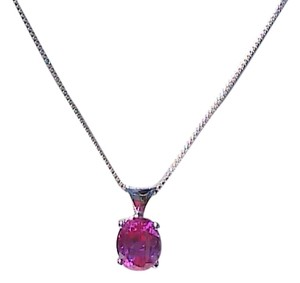 Sterling Silver 3.0 cts Ruby Necklace