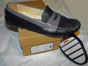 Cole Haan Loafers Driving Moccasins Nike Air black gray Flats