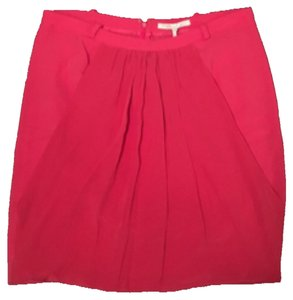 Maje Mini Skirt salmon red
