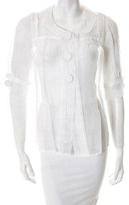 Chloé Top White sheer