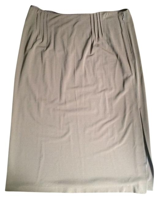 Victor Alfaro Viscose Pencil Italian Skirt Brown