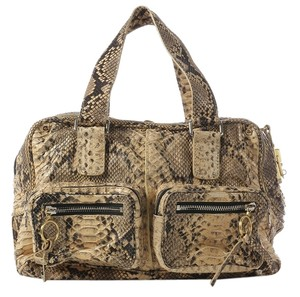 Chloé Ptyhon Betty Snakeskin Cl.j0924.12 Satchel