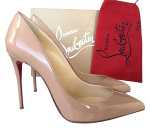 Christian Louboutin Pigalle Pigalle Follies Patent Leather So Kate nude Pumps