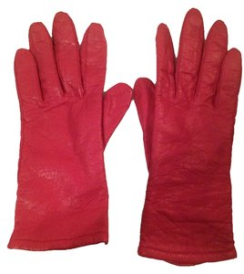 Fownes Red Leather Gloves