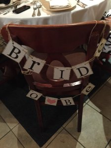 Bride To Be Seat Sign