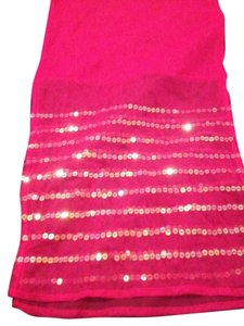 Other Hot Pink Mesh Scarf