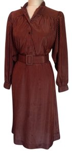 Balmain short dress Brown on Tradesy