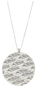 Cesare Paciotti Cesare Paciotti Silver Necklace With Pendant Rounded JPCL0946B 925 Silver