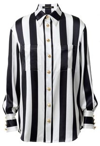 Balmain x H&M Top Black and White Stripe