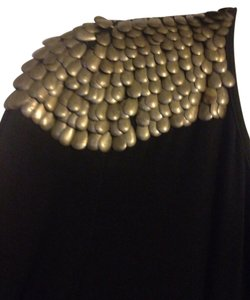 Karlie short dress Black With Gold Studded Shoulder on Tradesy