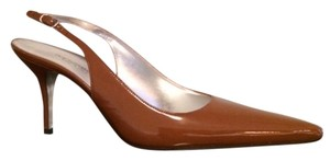 Dolce&Gabbana Slingback Pointed Toe 70mm Heel Chestnut Pumps