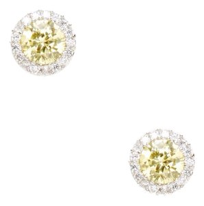 Gemma Cruz Citrine CZ Disc Earrings