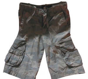 Urban Pipeline Cargo Boy Casual 10 Slim Cargo Shorts Khaki Gray Camo